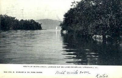Otter Creek - Vergennes, Vermont VT Postcard