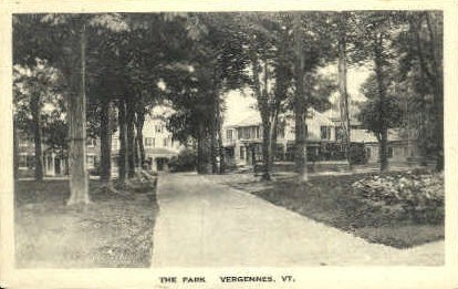 The Park - Vergennes, Vermont VT Postcard