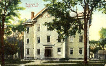 High School - Vergennes, Vermont VT Postcard