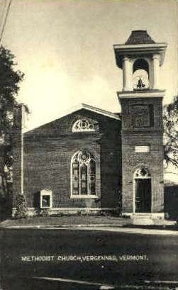 Methodist Church - Vergennes, Vermont VT Postcard