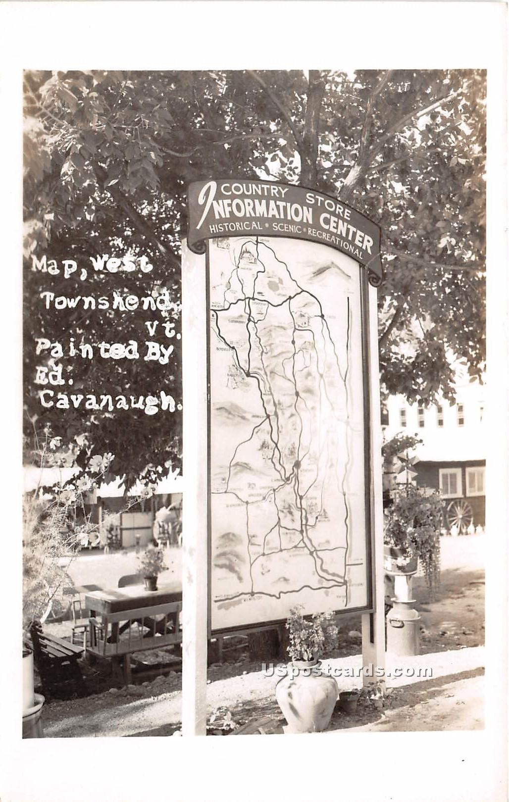 Map - West Townshend, Vermont VT Postcard