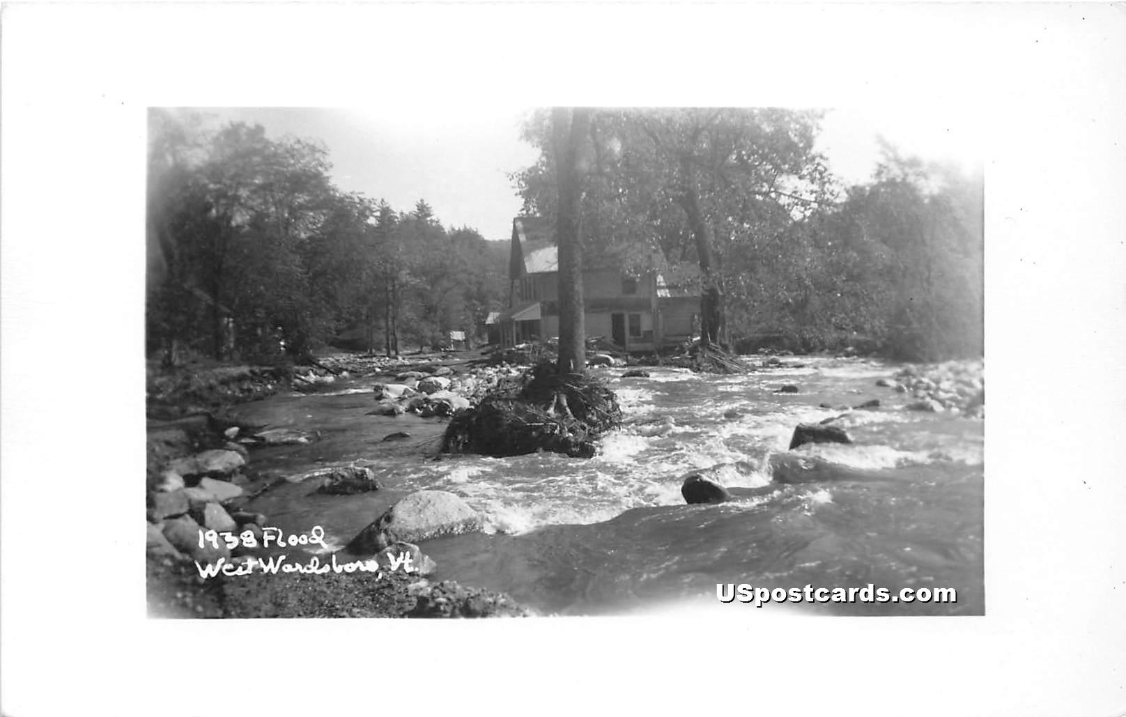 Flood - West Wardsboro, Vermont VT Postcard