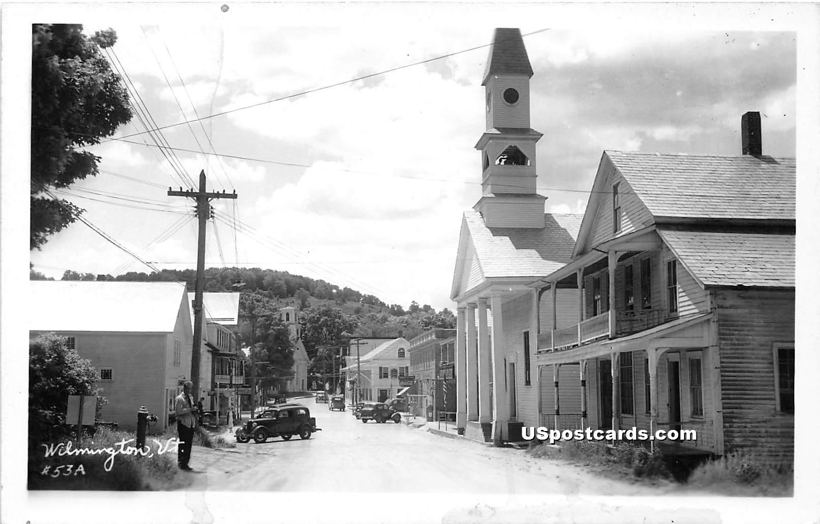 Street Scene - Wilmington, Vermont VT Postcard