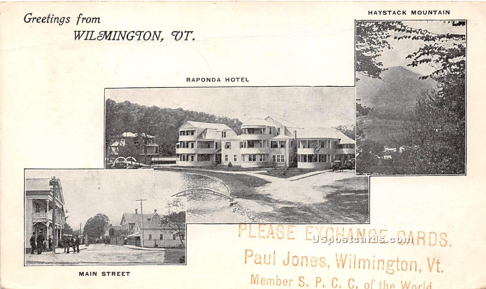 Main Street - Wilmington, Vermont VT Postcard