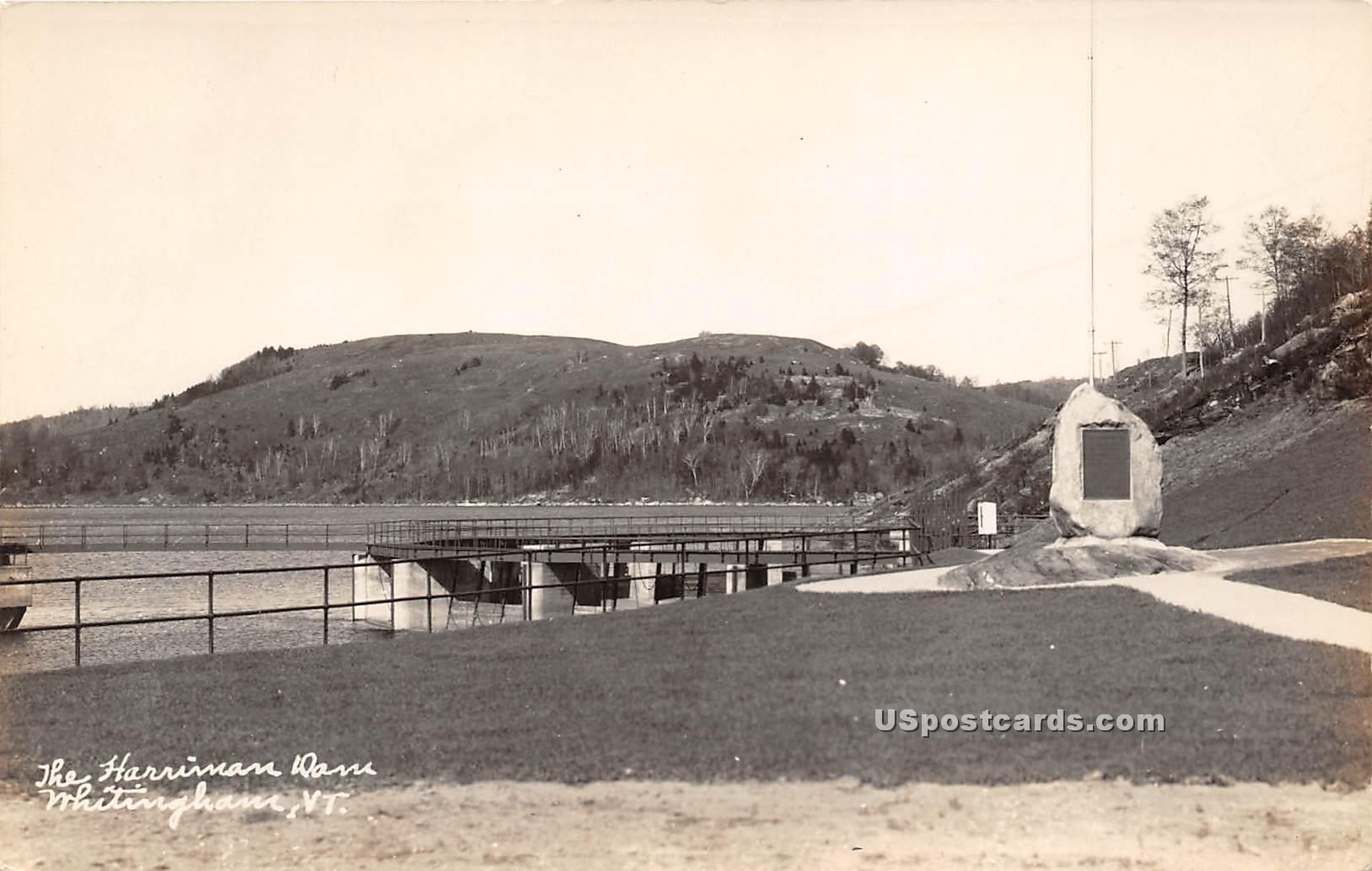 Harriman Dam - Whitingham, Vermont VT Postcard