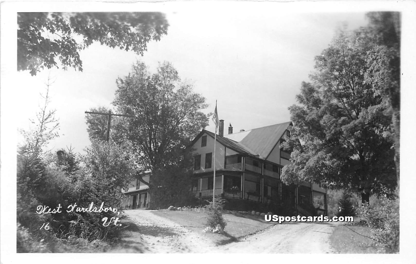 Building & Trees - West Wardsboro, Vermont VT Postcard