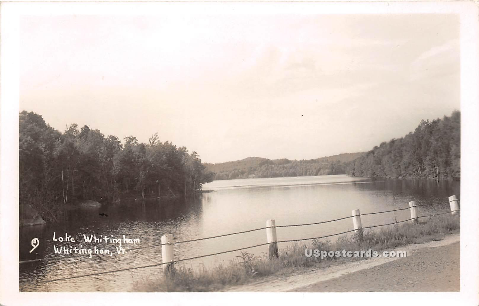 Lake Whitingham - Vermont VT Postcard