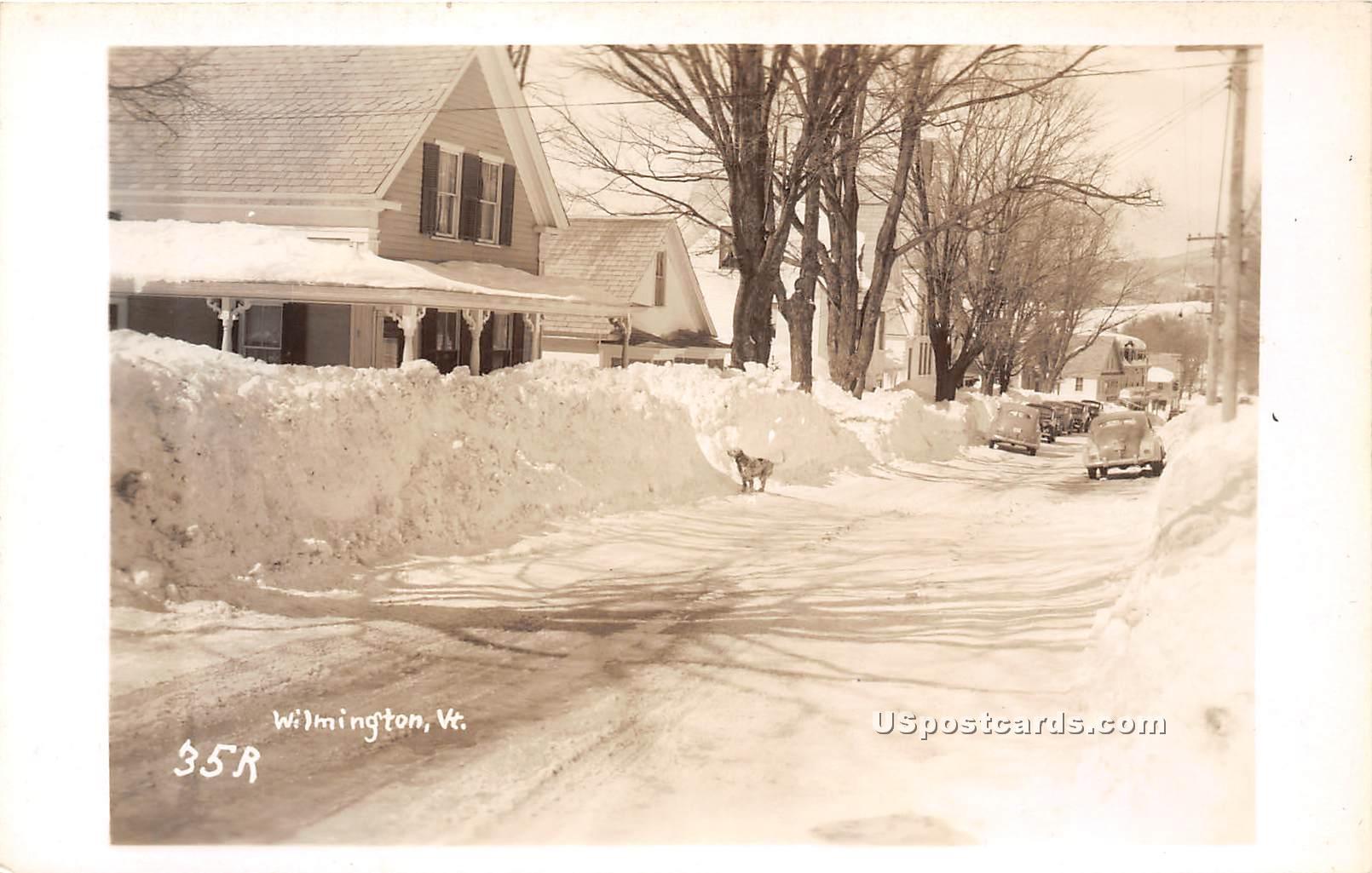 Snow Scene - Wilmington, Vermont VT Postcard