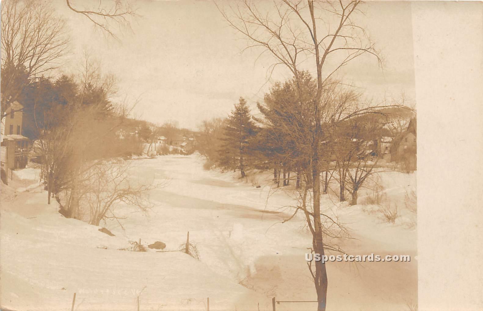 Snow Scene - Woodstock, Vermont VT Postcard
