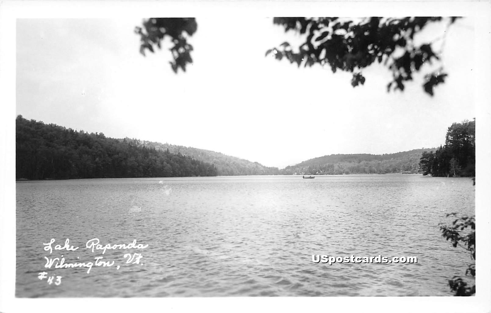 Lake Raponda - Wilmington, Vermont VT Postcard