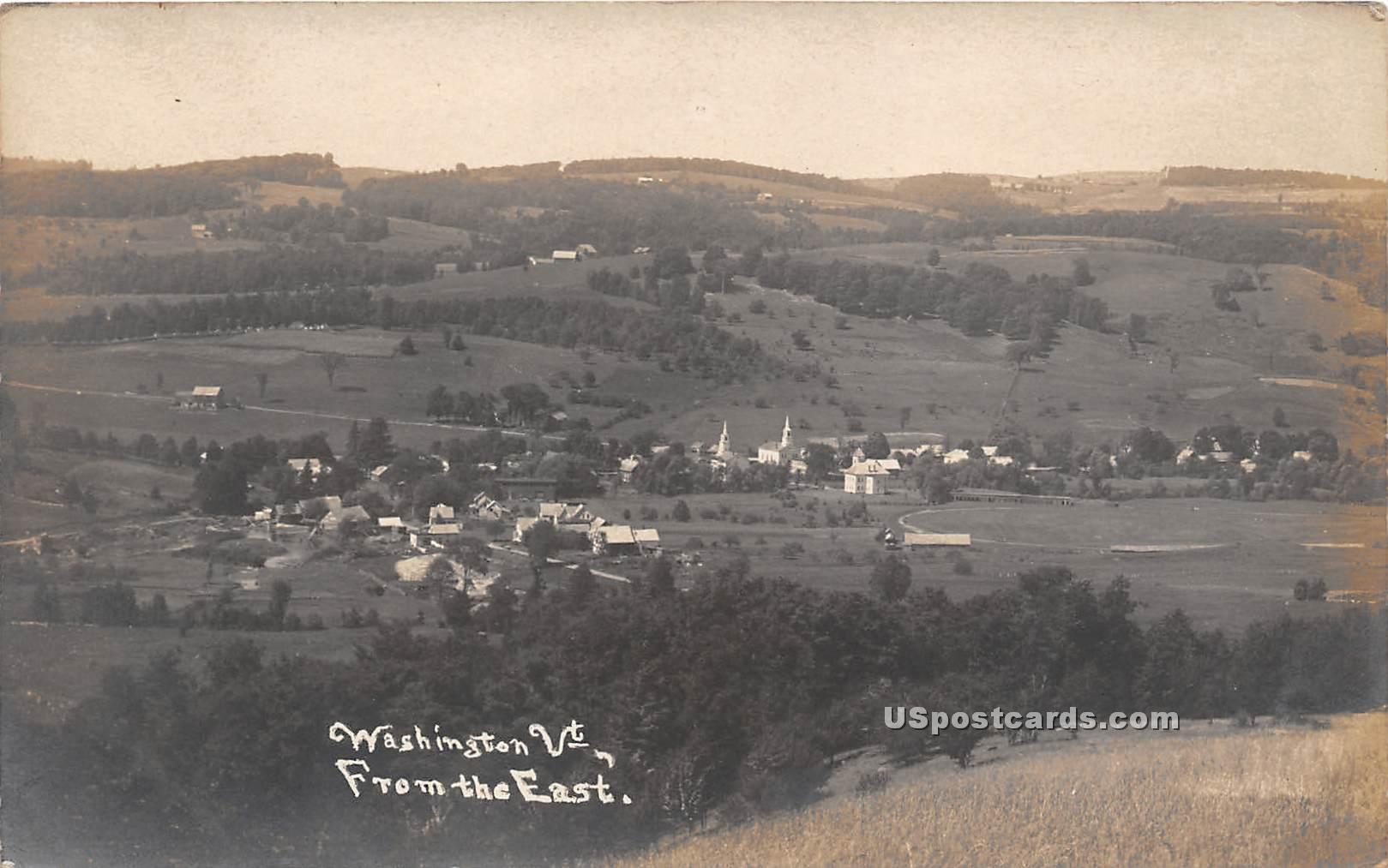From the East - Washington, Vermont VT Postcard