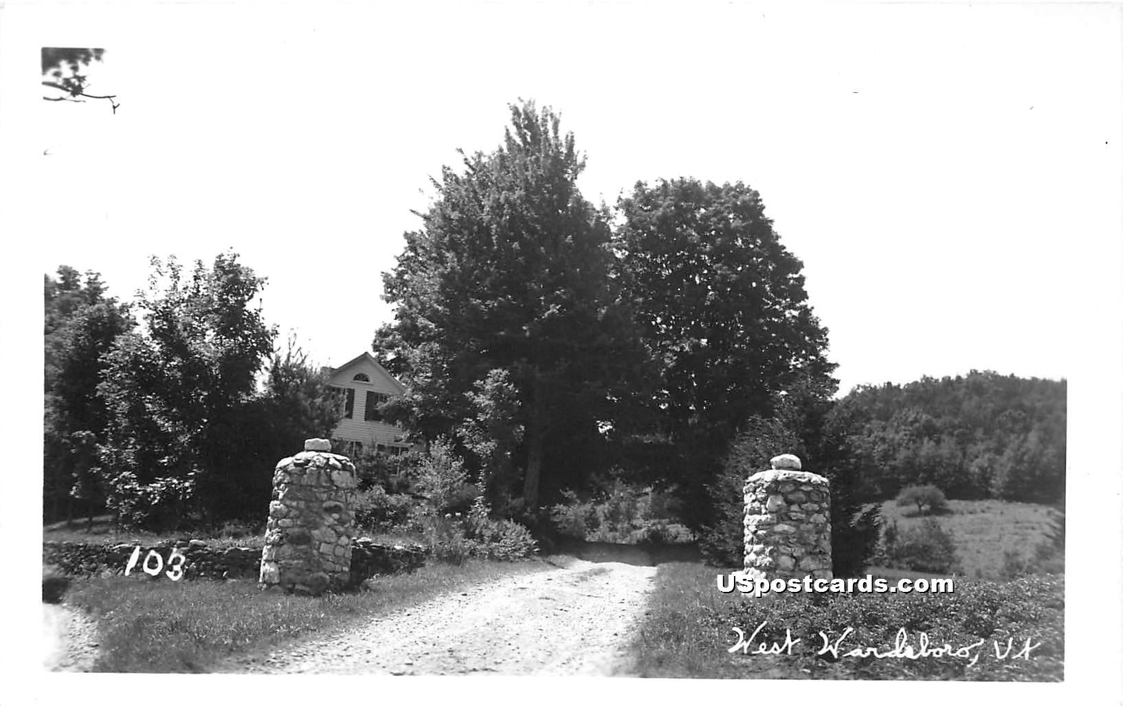 Driveway - West Wardsboro, Vermont VT Postcard