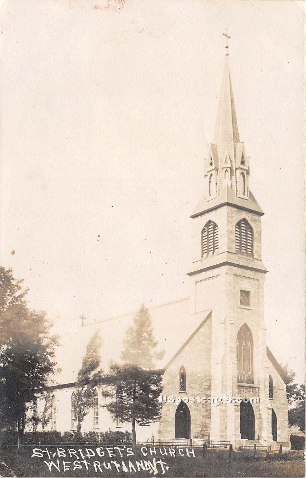 St Bridget's Church - West Rutandy, Vermont VT Postcard
