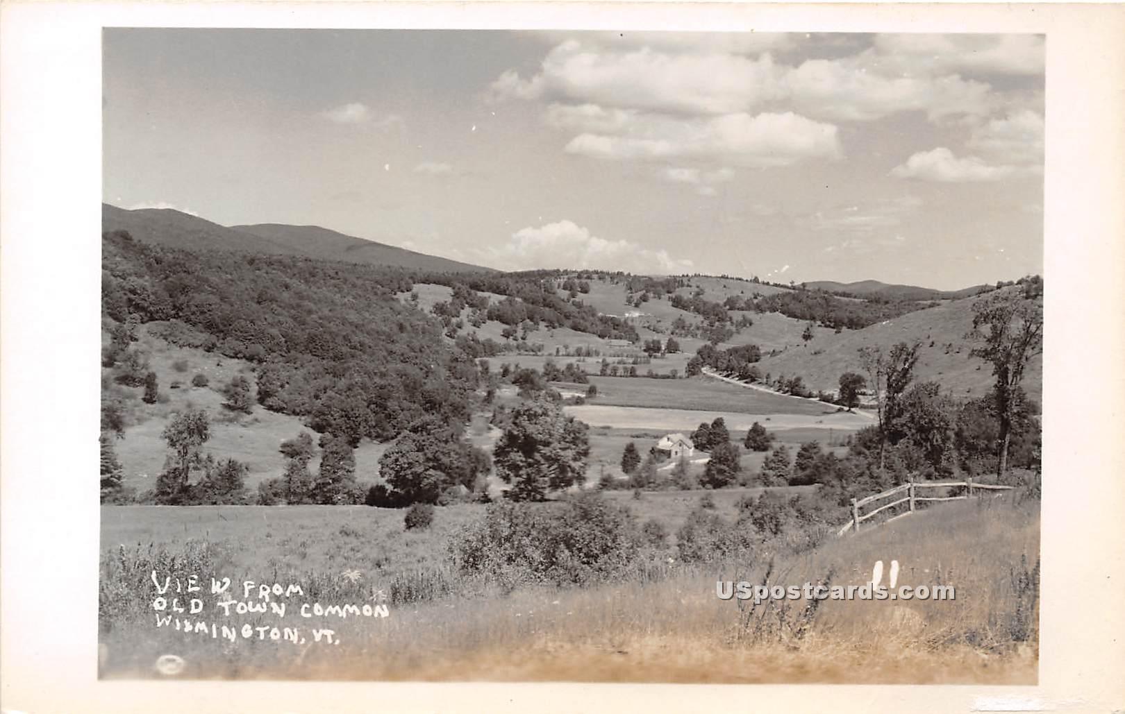 Old Town Common - Wilmington, Vermont VT Postcard