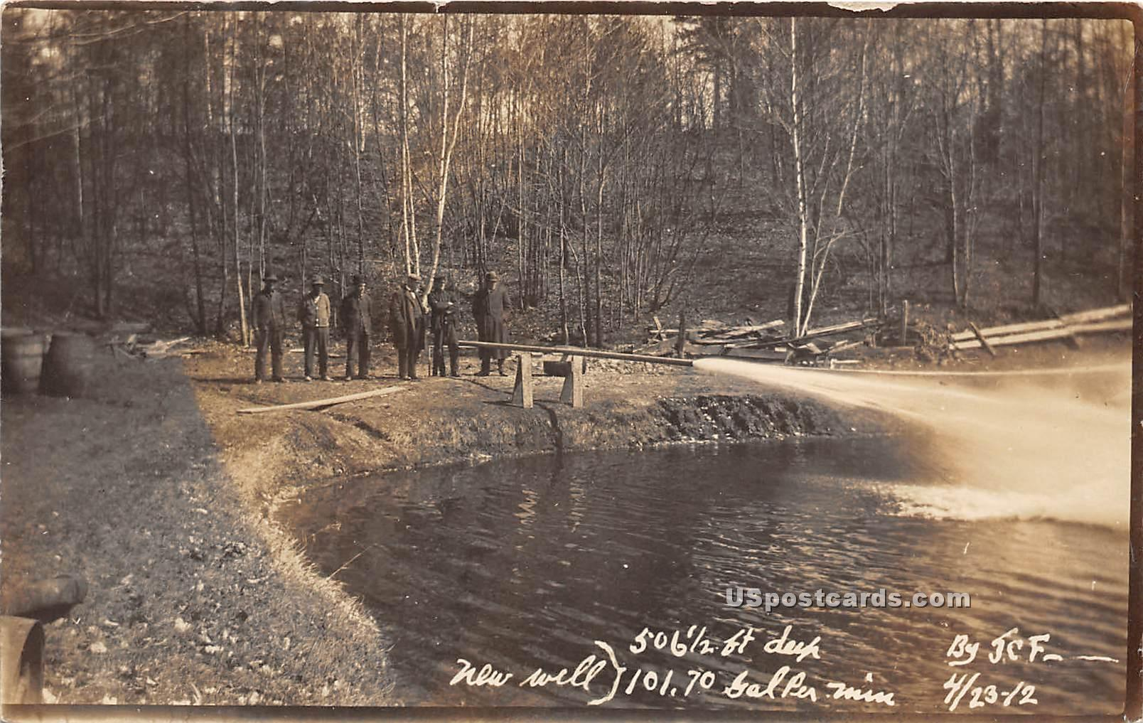 New Well - Winooski, Vermont VT Postcard