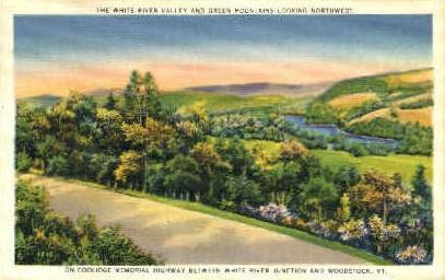 White River Valley - Woodstock, Vermont VT Postcard