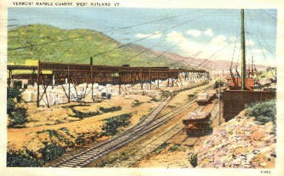Vermont Marble Quarry - West Rutland Postcard