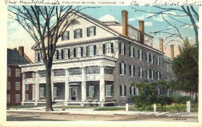 Windsor House - Vermont VT Postcard