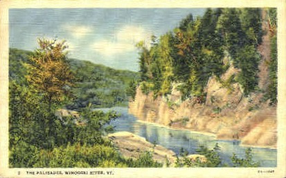 The Palisades - Winooski River, Vermont VT Postcard