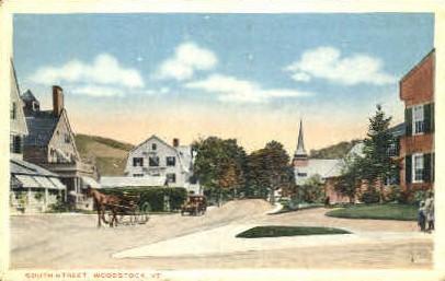 South Street - Woodstock, Vermont VT Postcard
