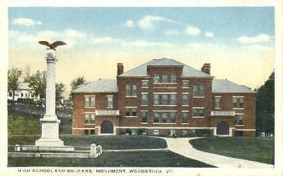 High School - Woodstock, Vermont VT Postcard