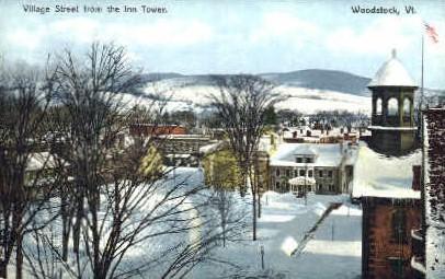 Village Street - Woodstock, Vermont VT Postcard