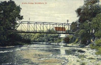 Middle Bridge - Woodstock, Vermont VT Postcard