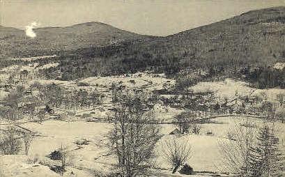 Winter - Weston, Vermont VT Postcard