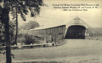 Covered Bridge - Windsor, Vermont VT Postcard