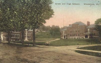 Grade School - Woodstock, Vermont VT Postcard