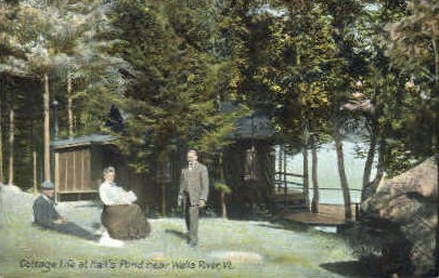 Hall's Pond - Wells River, Vermont VT Postcard