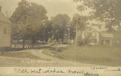 Real Photo, Mill Street - Weston, Vermont VT Postcard