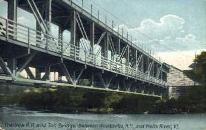 New Railroad - Wells River, Vermont VT Postcard