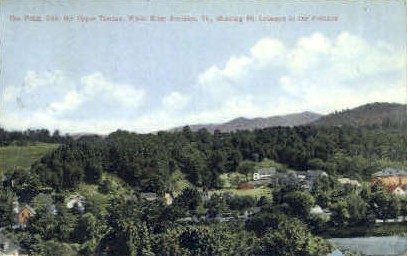 The Point - White River Junction, Vermont VT Postcard