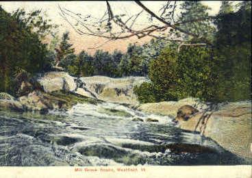 Mill Brook - Westfield, Vermont VT Postcard