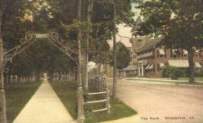 The Park - Woodstock, Vermont VT Postcard