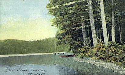 Sargent's Landing - Williamsville, Vermont VT Postcard