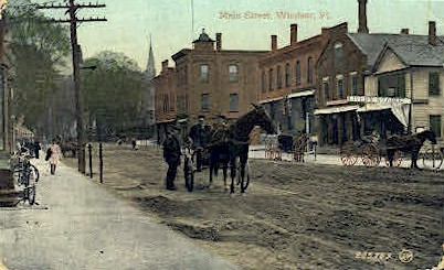 Main Street - Windsor, Vermont VT Postcard