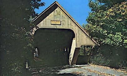 Covered Bridge - Woodstock, Vermont VT Postcard