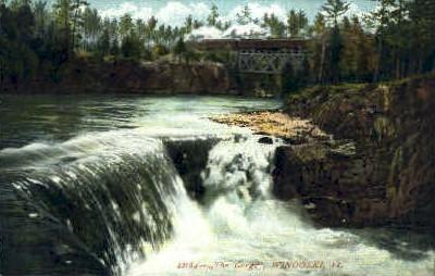 The Gorge - Winooski, Vermont VT Postcard