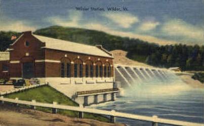 Wilder Station - Vermont VT Postcard