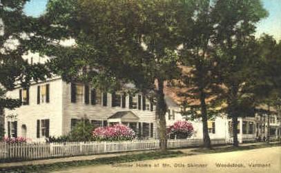 Mr. Otis Skinner Summer Home - Woodstock, Vermont VT Postcard