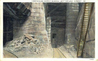 Underground Marble Quarry - West Rutland, Vermont VT Postcard