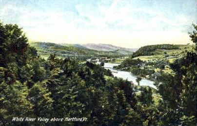 White River Valley - Hartford, Vermont VT Postcard