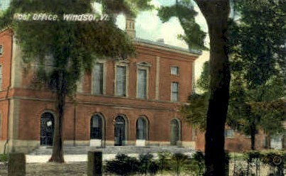 Post Office - Windsor, Vermont VT Postcard