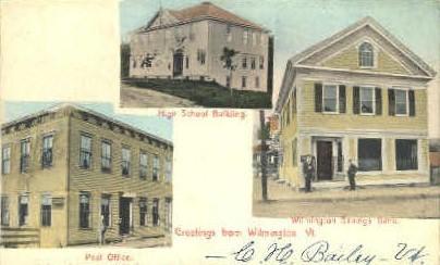 High School - Wilmington, Vermont VT Postcard