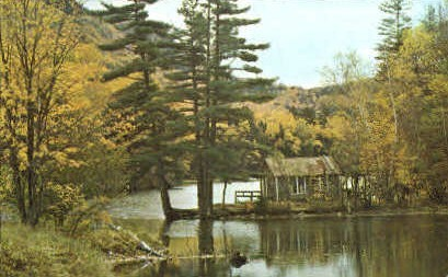 Woodward Reservoir - West Bridgewater, Vermont VT Postcard