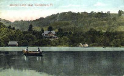 Mitchell Lake - Woodstock, Vermont VT Postcard