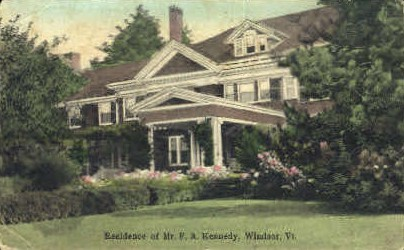 Residence of Mr. F. A. Kennedy - Windsor, Vermont VT Postcard