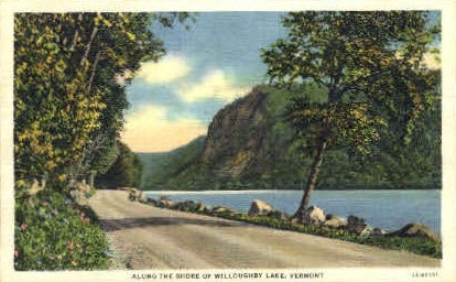 Shore - Willoughby Lake, Vermont VT Postcard